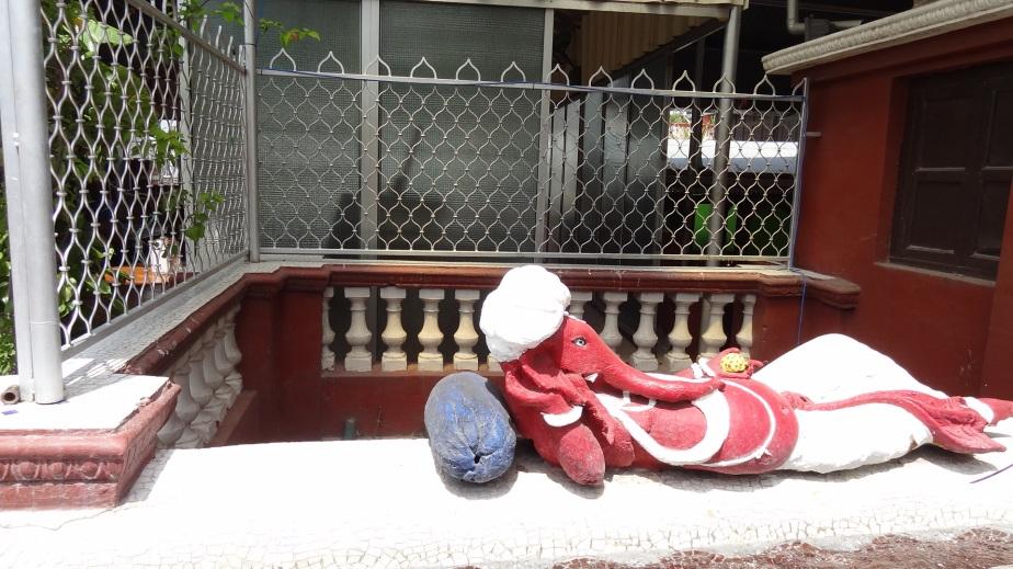 The reclining Ganesha