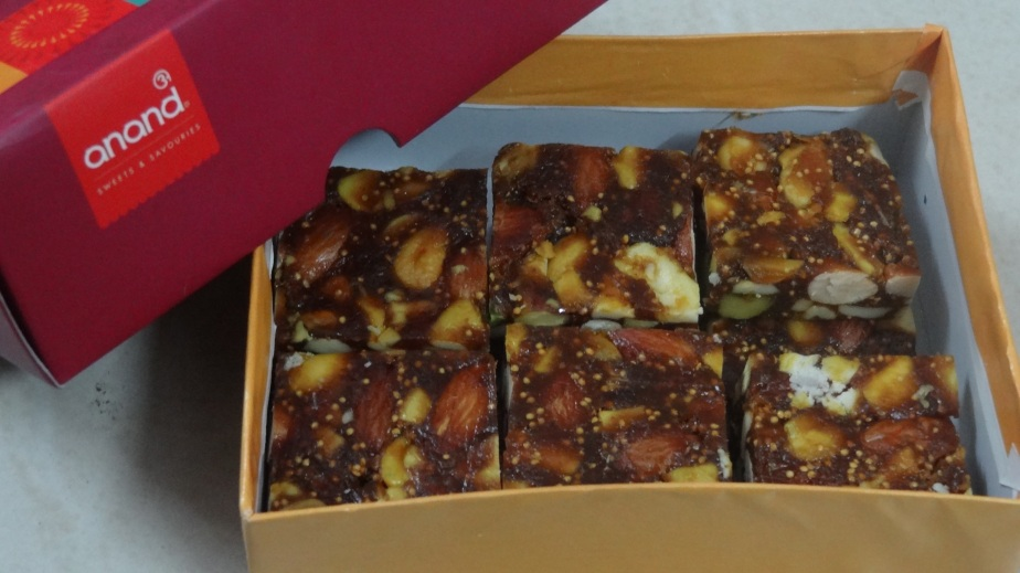 Anjeer dryfruit barfee at Anand Sweets